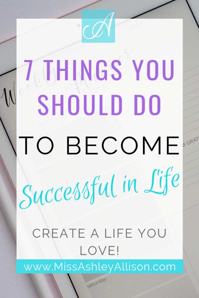 how do you become successful in life